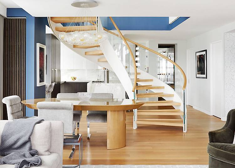Curved stairs CS-801