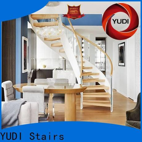 YUDI Stairs curved staircase suppliers for indoor