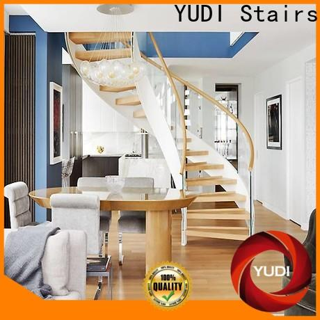 Custom building curved stairs wholesale for aprtment