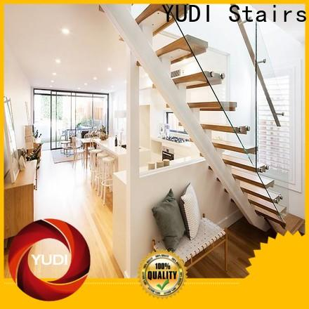 YUDI Stairs Custom made straight flight staircase price for aprtment