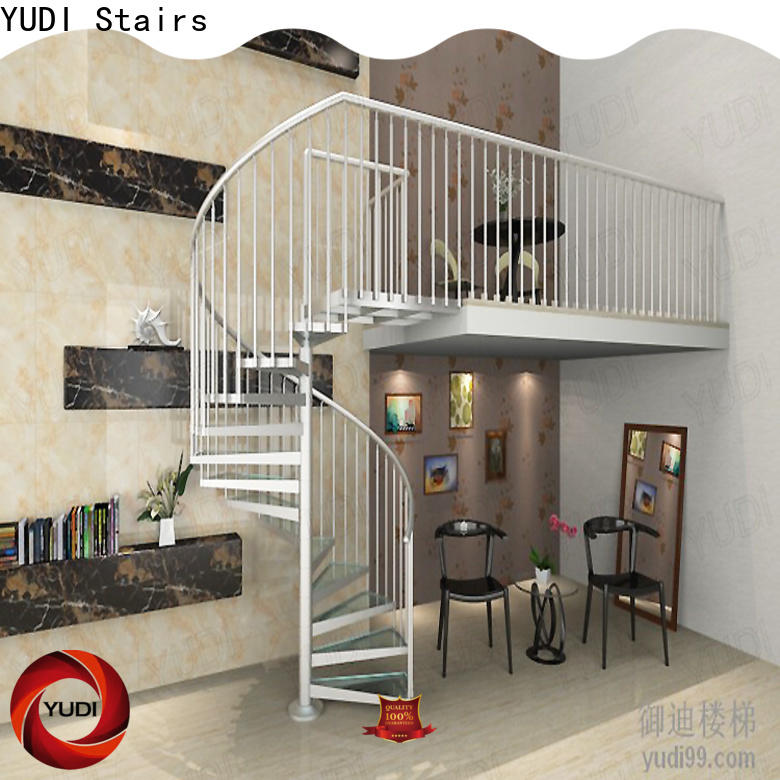 YUDI Stairs Best spiral staircase company supply for indoor