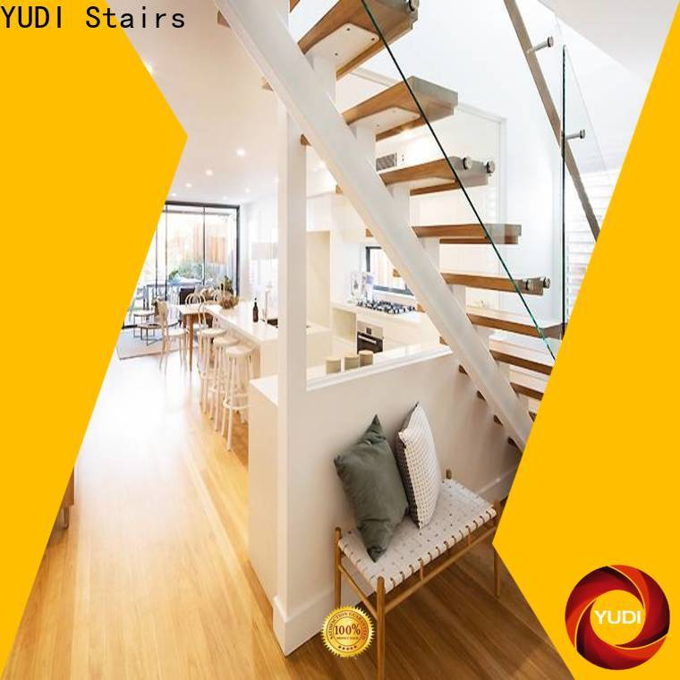 YUDI Stairs Custom made straight stair vendor for commercial use