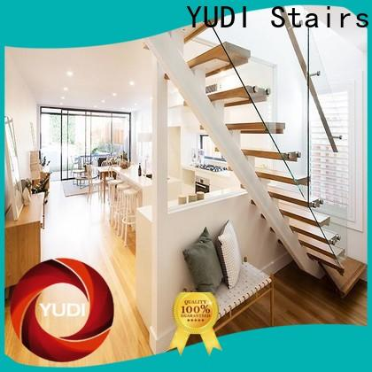YUDI Stairs straight flight staircase manufacturers for aprtment