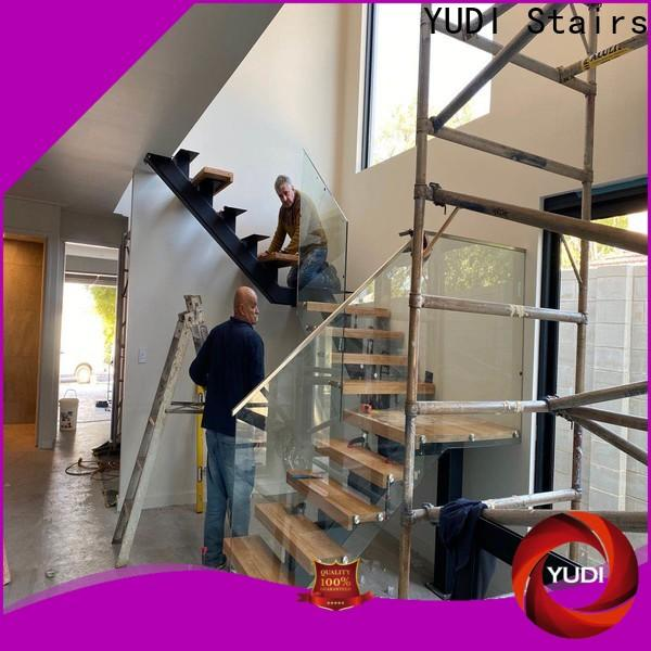 YUDI Stairs High-quality straight flight staircase price for aprtment