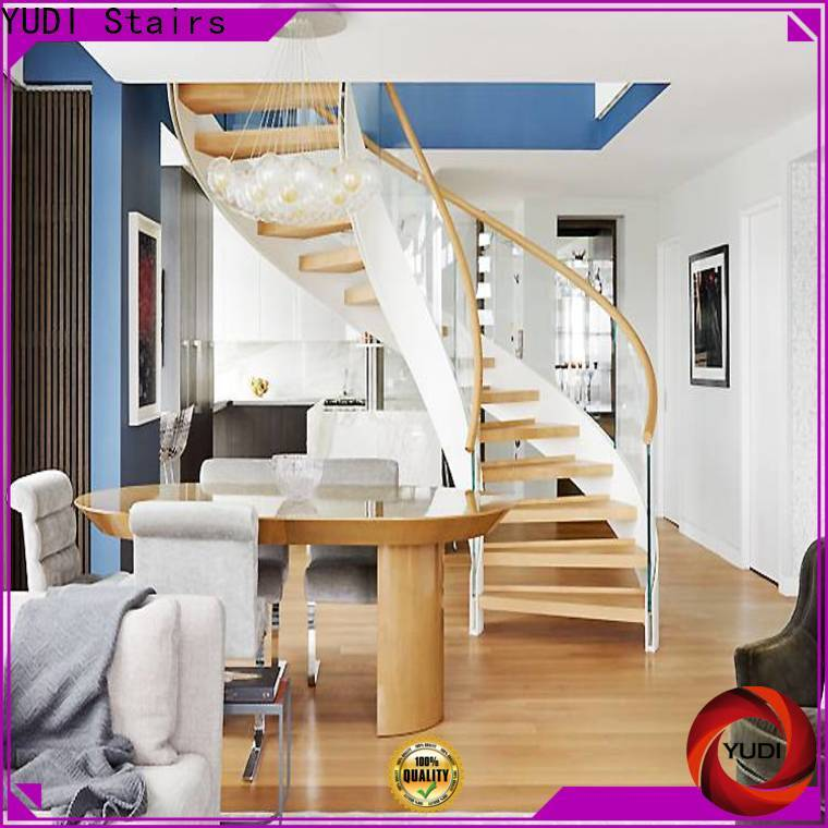 YUDI Stairs curved staircase supply for aprtment