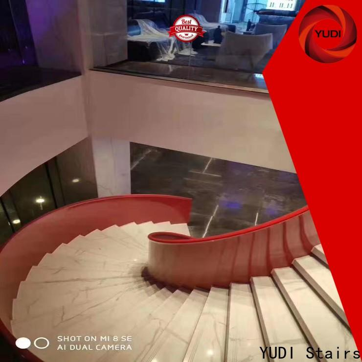 YUDI Stairs Customized curved staircase designs factory price for aprtment