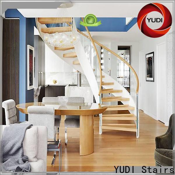 YUDI Stairs Quality curved staircase manufacturers factory price for indoor