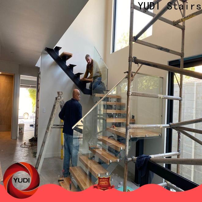 Professional straight flight staircase factory price for home