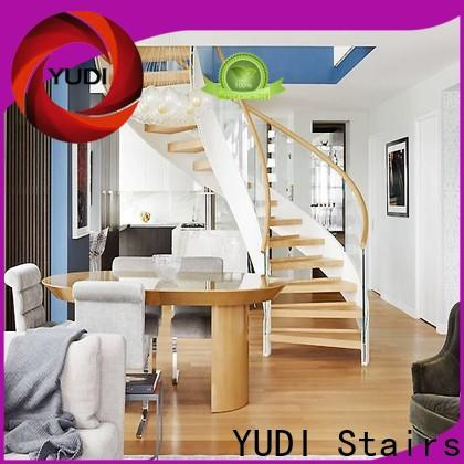 Custom curved stairs price for indoor