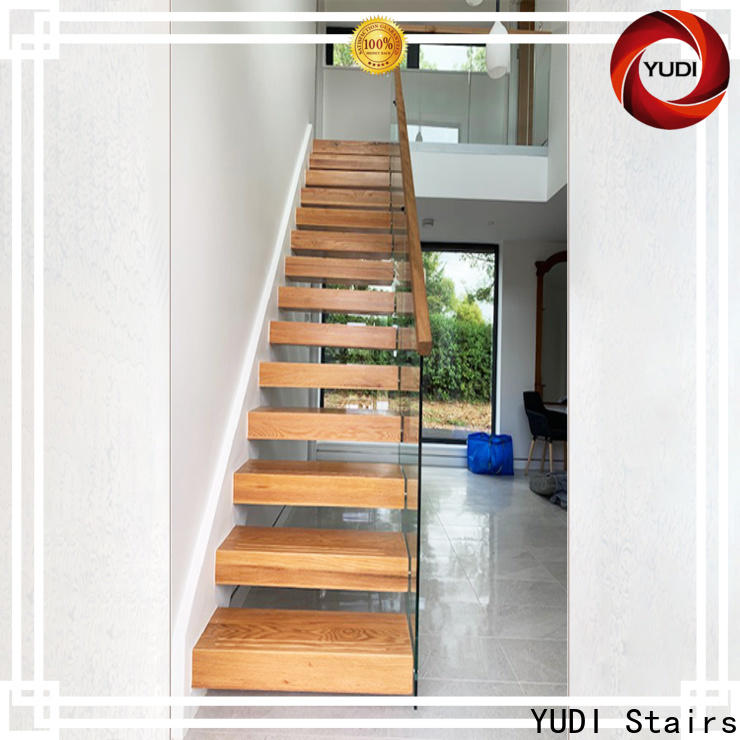 YUDI Stairs Customized floating stair kit company for hotel