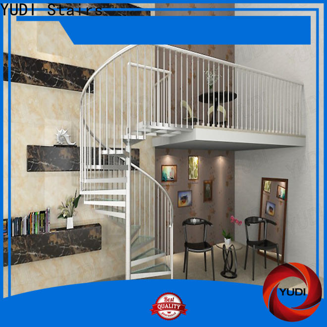 YUDI Stairs Custom custom spiral staircase factory price for aprtment