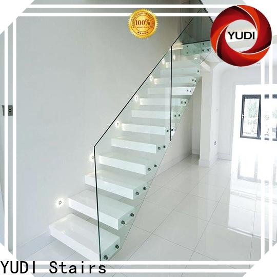 YUDI Stairs High-quality floating stair treads cost for villa