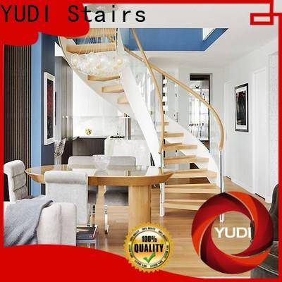 YUDI Stairs Professional curved staircase manufacturers manufacturers for villa