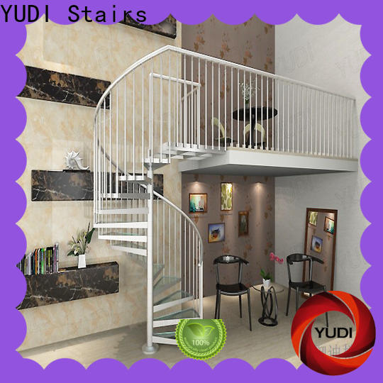 YUDI Stairs Best custom spiral staircase cost for indoor