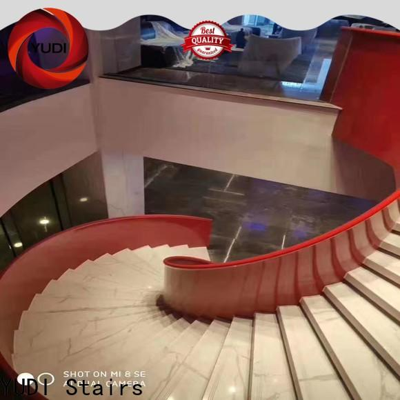 Customized semi circle stairs supply for house