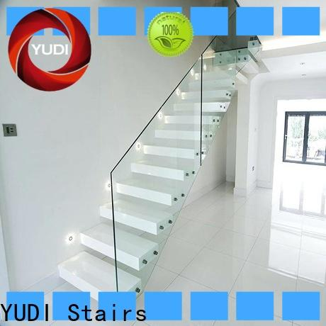 Custom made floating stairs supply for office building