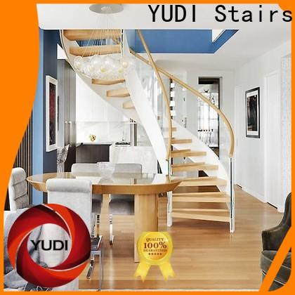 YUDI Stairs Custom contemporary curved staircase cost for house