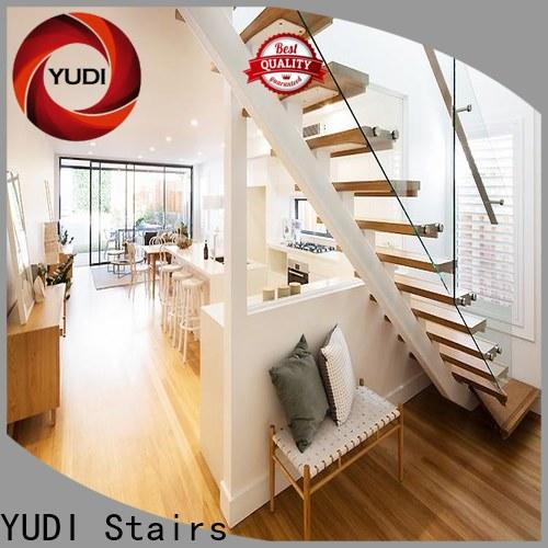 High-quality straight flight staircase factory price for commercial use