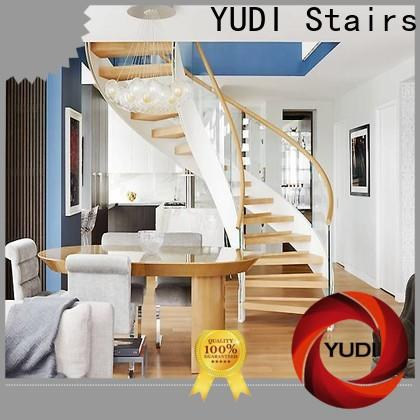 YUDI Stairs Professional building curved stairs suppliers for aprtment