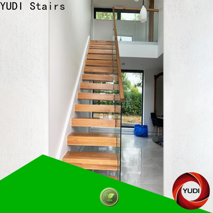 YUDI Stairs Custom made building floating stairs supply for office building