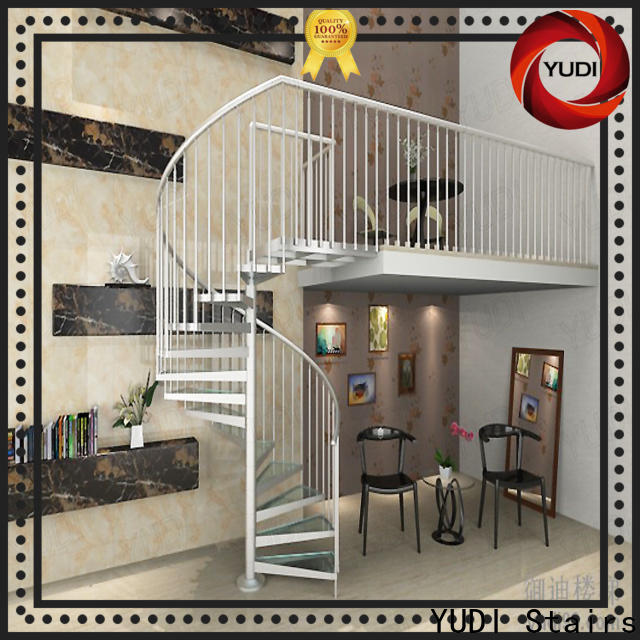 YUDI Stairs Quality square spiral staircase factory price for house