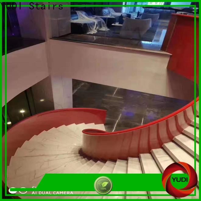 YUDI Stairs Custom semi circle stairs factory for house
