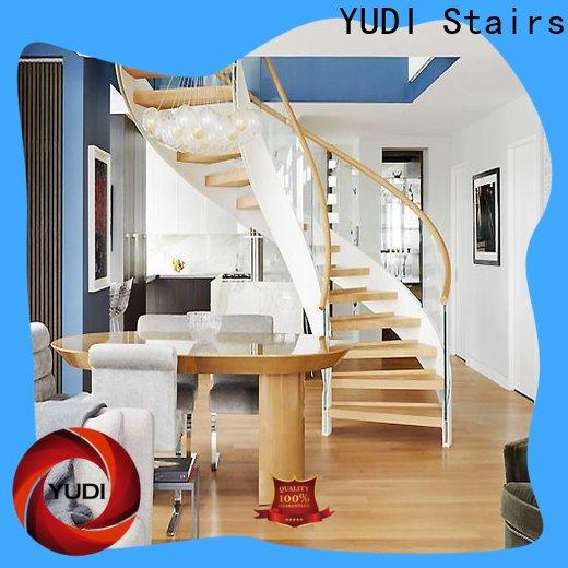 YUDI Stairs curved staircase designs for indoor