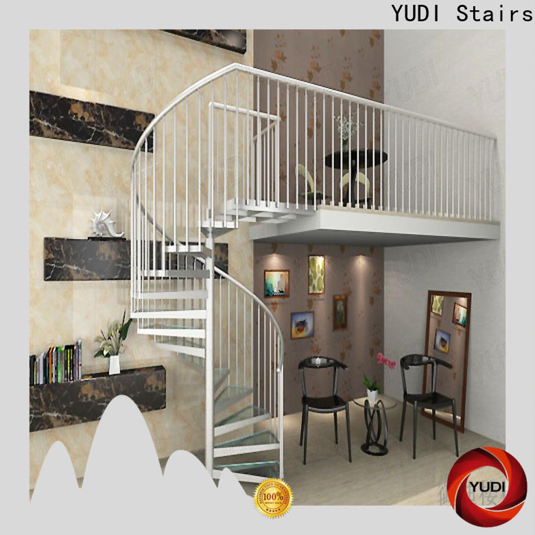 YUDI Stairs Best wooden spiral staircase wholesale for home