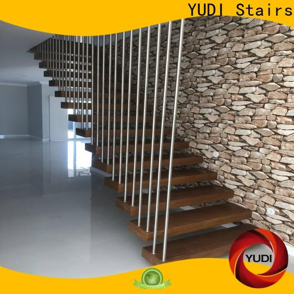 YUDI Stairs floating glass staircase factory price for villa