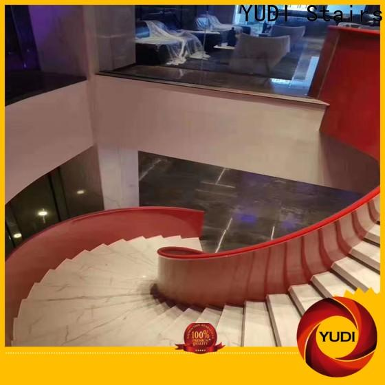 YUDI Stairs double curved staircase vendor for indoor