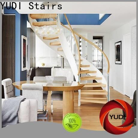 YUDI Stairs Top half round stairs factory price for indoor