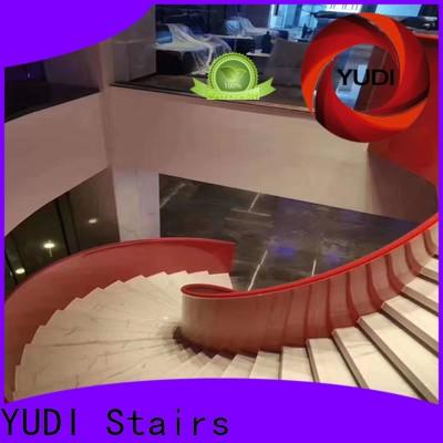 Top wood curved stairs company for villa