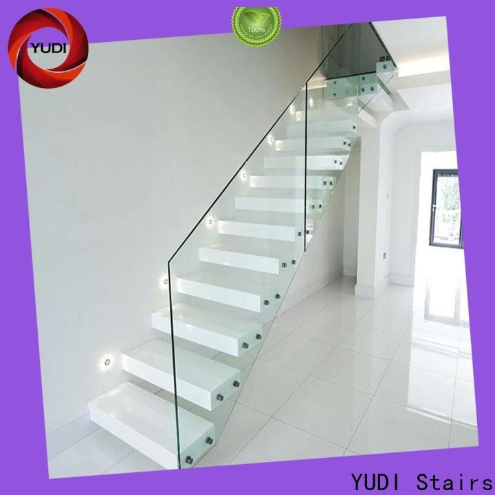 Best steel floating stairs factory price