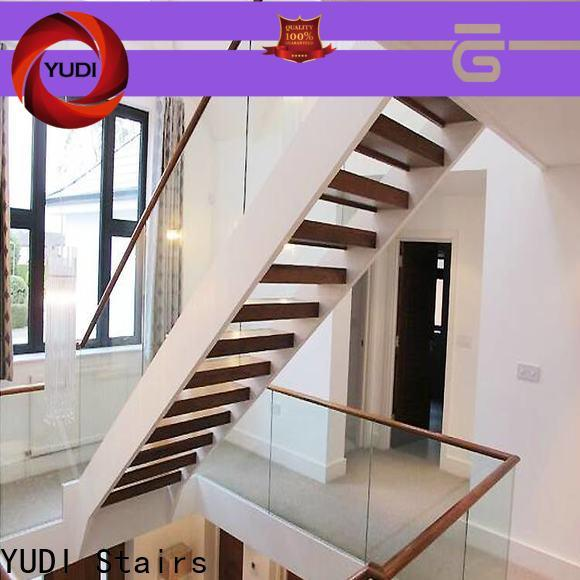 YUDI Stairs u shaped stairs with landing supply for residential