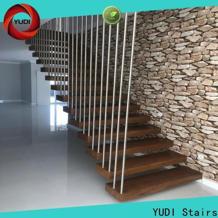 New floating glass staircase wholesale for office building