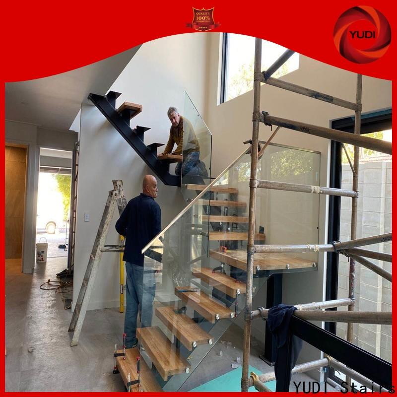 YUDI Stairs Custom made straight stair manufacturers for commercial use