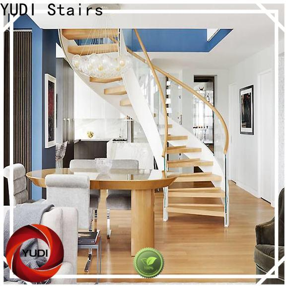 YUDI Stairs Top building curved stairs manufacturers for villa