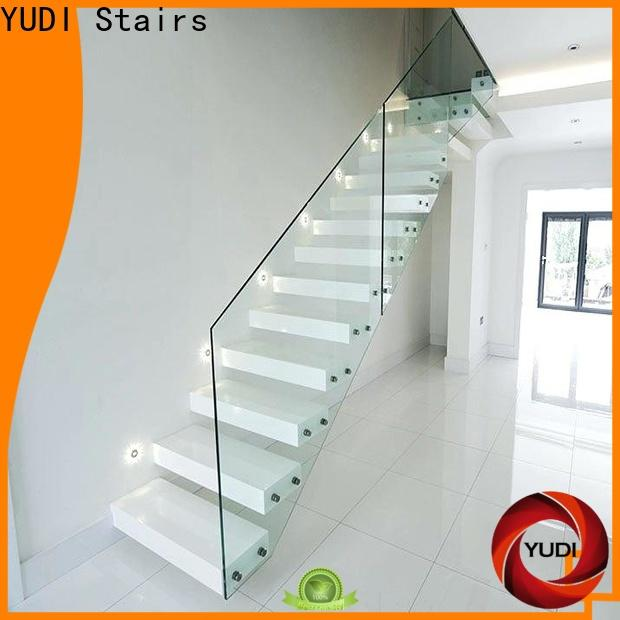 Custom made floating glass staircase price