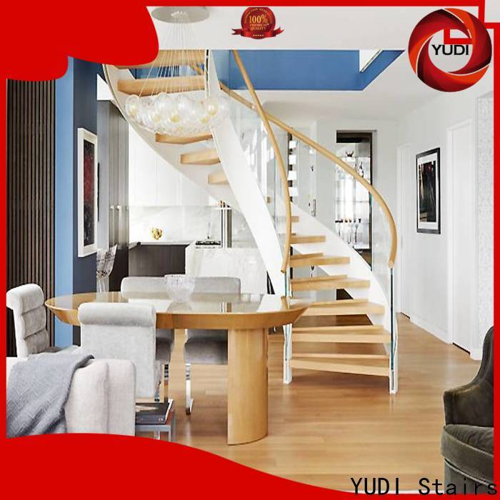 YUDI Stairs Best contemporary curved staircase price for indoor