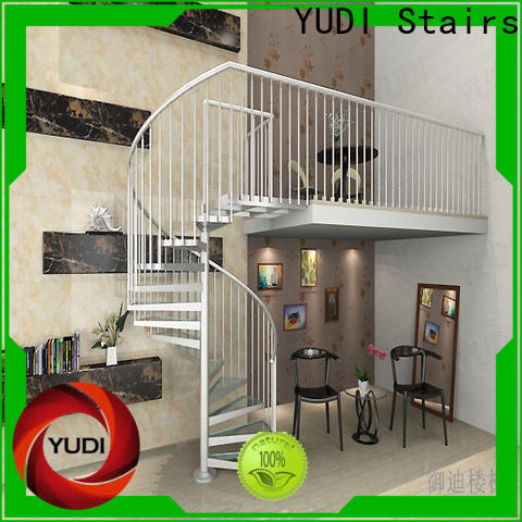 YUDI Stairs Custom made square spiral staircase wholesale for home