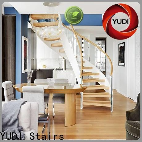 YUDI Stairs Latest contemporary curved staircase factory price for indoor