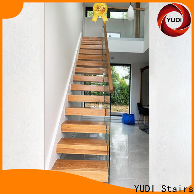 Latest floating glass staircase vendor