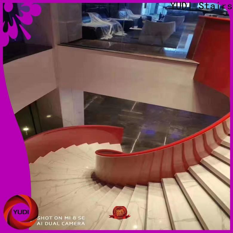 Customized curved staircase company for house