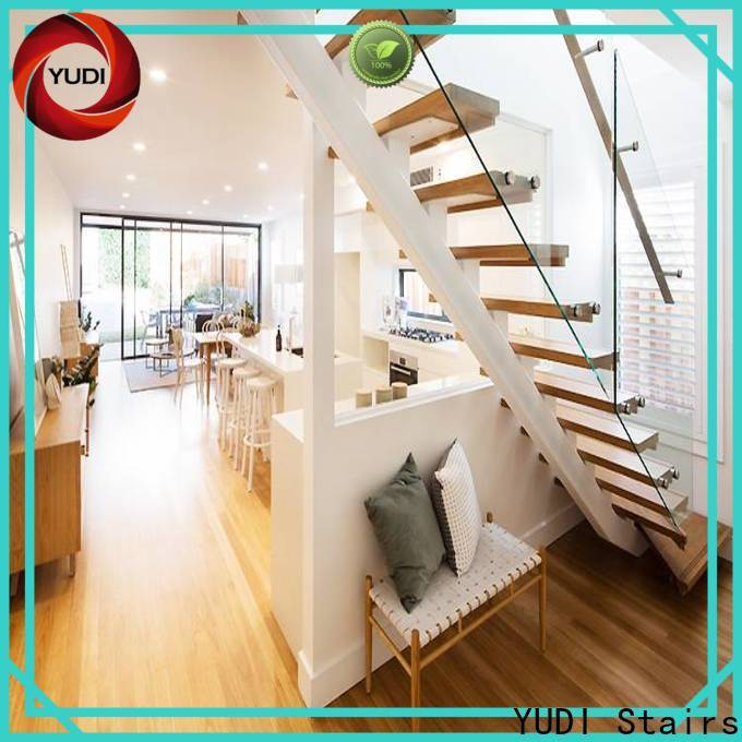 Custom made space saving stairs design factory price for residential