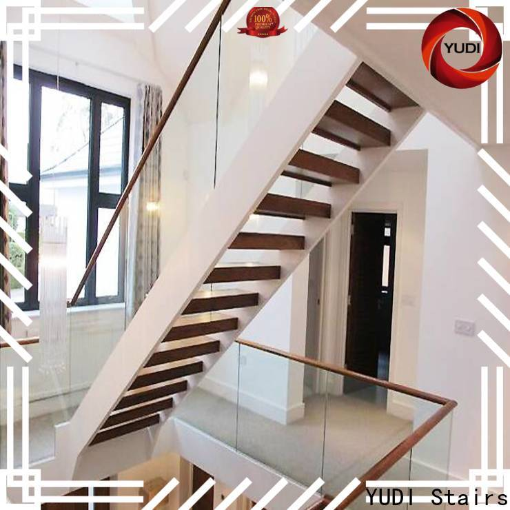 YUDI Stairs Quality u shaped stairs with landing cost for aprtment