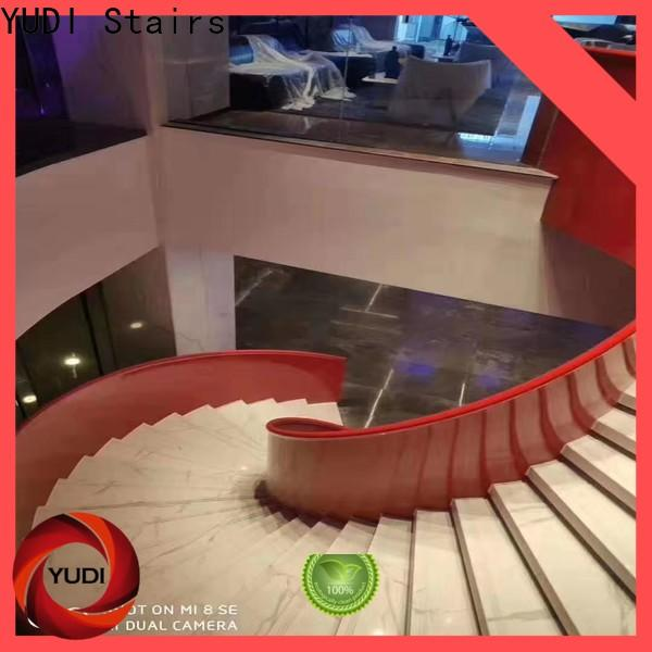 YUDI Stairs Professional wood curved stairs company for house