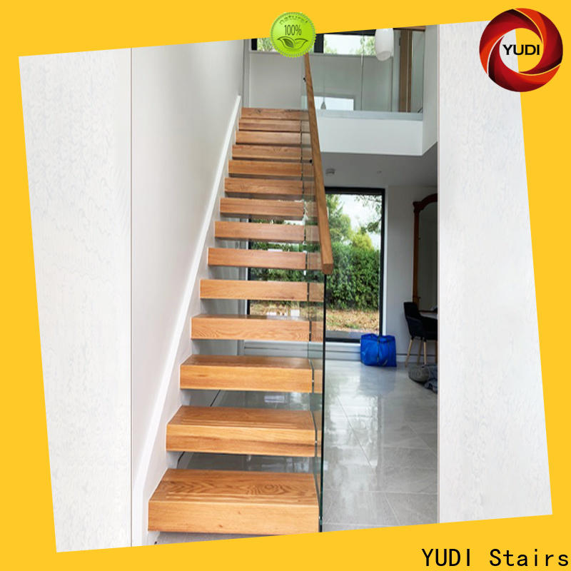 YUDI Stairs Latest floating wood stairs wholesale for office building