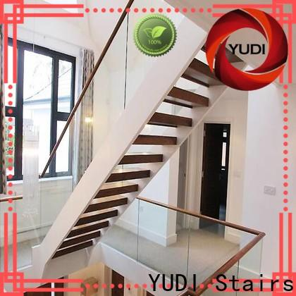 Professional u shaped stair design factory for interior & outside