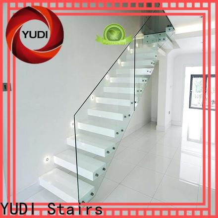 YUDI Stairs Customized floating glass staircase wholesale for hotel