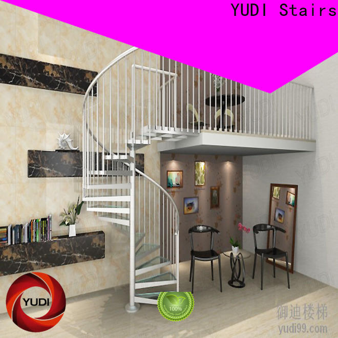 YUDI Stairs New steel spiral staircase manufacturers for house